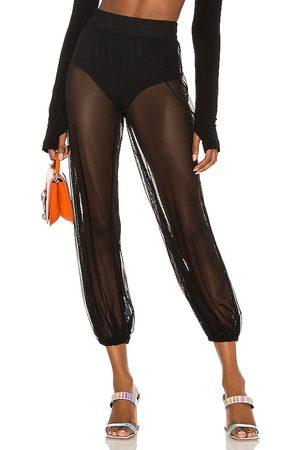 Norma Kamali Pantalón jog puff en color negro talla L en - Black. Talla L (también en XS, S, M, XL).