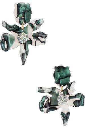 Lele Sadoughi Pendientes crystal lily en color verde oscuro talla all en - Dark Green. Talla all.