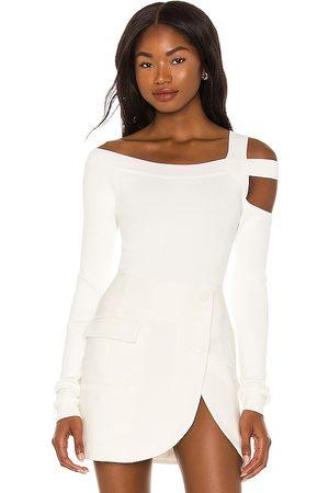 h:ours Milee long sleeve top en color talla L en - White. Talla L (también en XS, S, M).