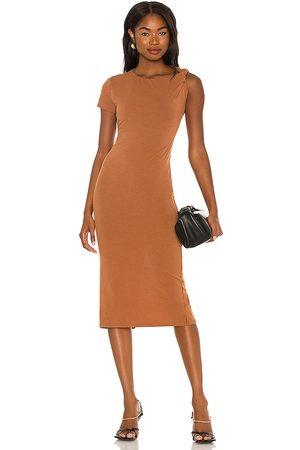 NBD Vestido midi branson en color marrón talla L en - Brown. Talla L (también en XXS, XS, S, M, XL).