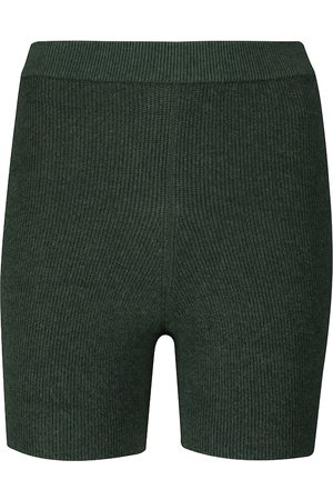 LIVE THE PROCESS Arch ribbed-knit shorts