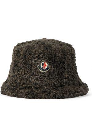 Moncler Logo faux shearling bucket hat