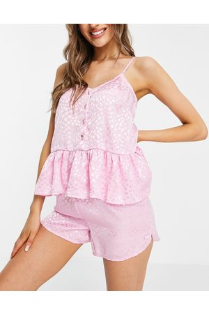 Y.A.S Exclusive cami top and flutter short pyjama set in pink