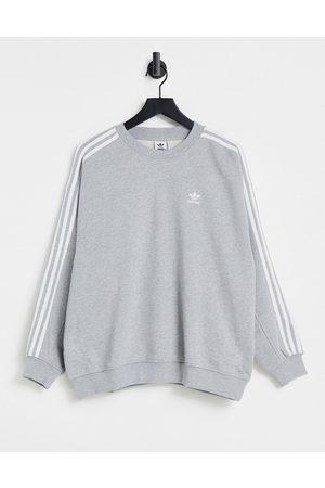 adidas Originals Adicolor three stripe sweatshirt in grey