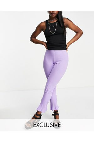 Reclaimed Vintage Inspired ribbed flare in purple