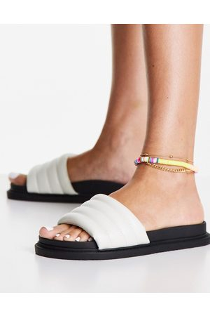 Truffle Collection Padded sliders in white