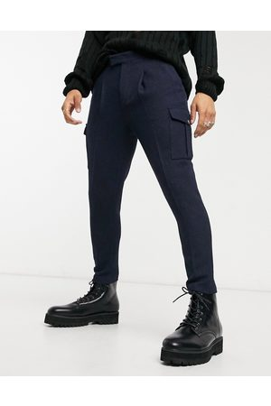 ASOS Tapered wool mix cargo smart trousers