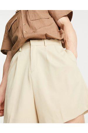 ASOS Cropped bermuda shorts in stone
