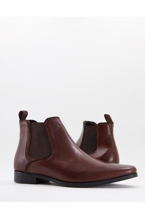 ASOS Chelsea boots in brown leather