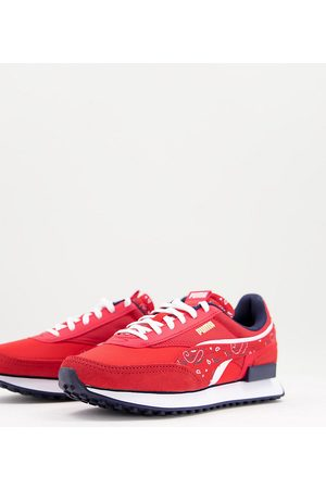 Puma Future Rider trainers in red paisley print
