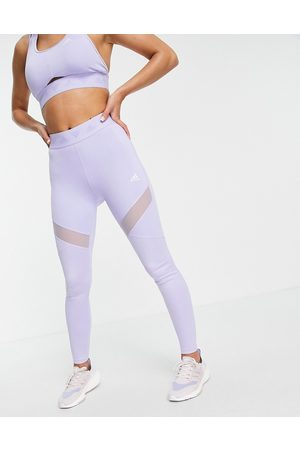 adidas performance Adidas Training leggings with branded waistband in lilac