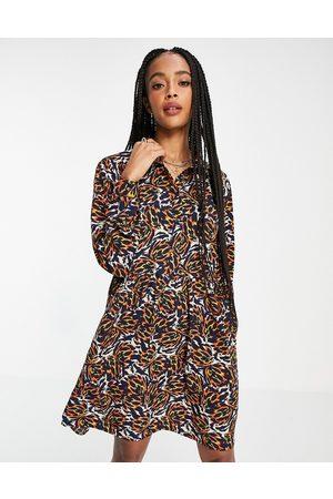 Object Kat printed mini dress in multi