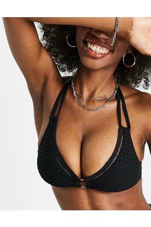 Pour Moi Mujer Bikinis - Sahara non wired halter bikini top in black