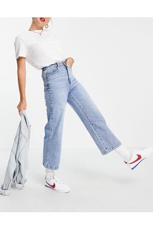Vero Moda Cropped wide leg jeans in blue