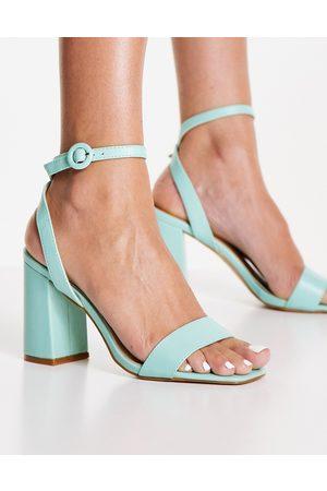 Raid Wink block heeled sandals in aqua