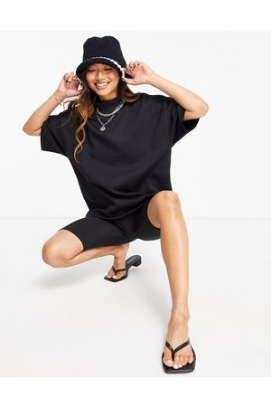 SELECTED Femme organic cotton blend top with high neck in black