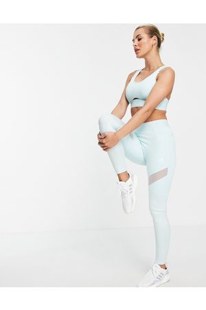 adidas Adidas Training leggings with branded waistband in mint