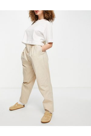 Object Organic cotton ovoid trouser in stone