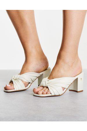 Ted Baker Pyford knot front high heeled sandal in ecru
