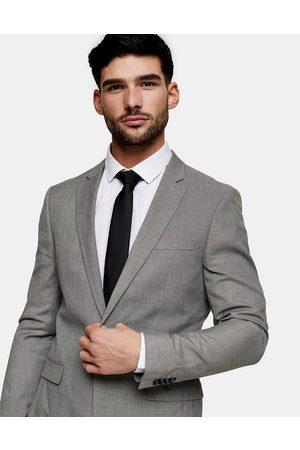 Topman Skinny single breasted suit jacket in grey