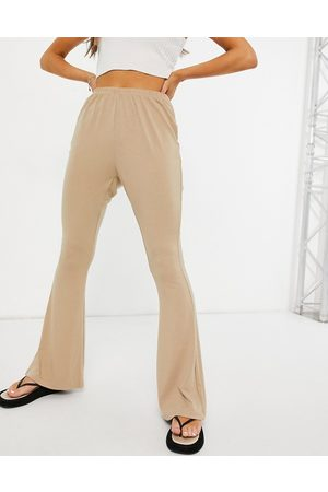 Glamorous Ribbed flared trousers in