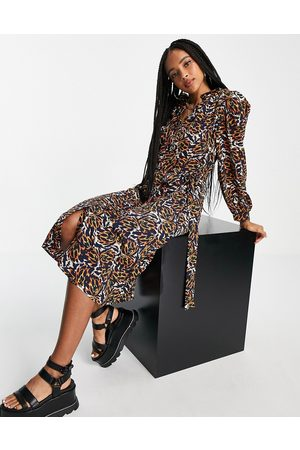 Object Kat printed midi shirt dress in multi