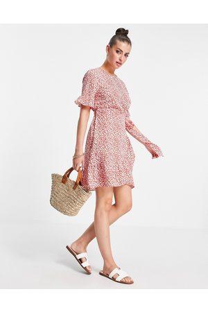 Vero Moda Frill mini dress in red spot