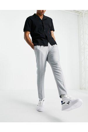 ASOS Super skinny suit trousers in grey neppy basketweave