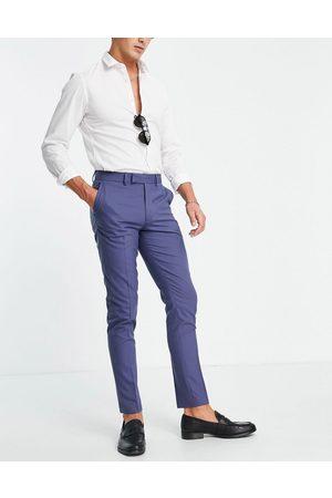 ASOS DESIGN Skinny navy suit trousers