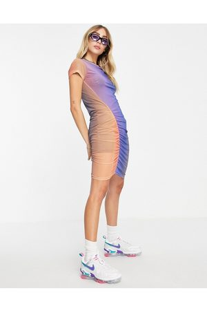 Weekday Darcy recycled rouched ombre mini dress in multi