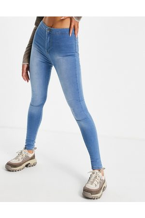 NaaNaa High waisted skinny jeans in light blue