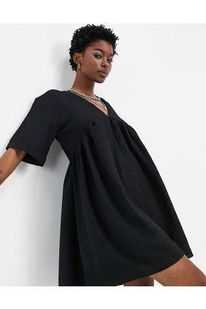 Bolongaro Mary Jane mini smock dress in black