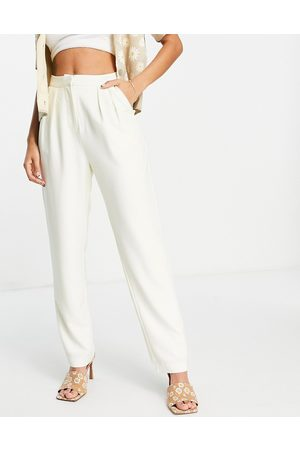 Fashion Union High waisted trousers with pleat front co
