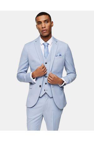 Topman Skinny single breasted suit jacket in light blue