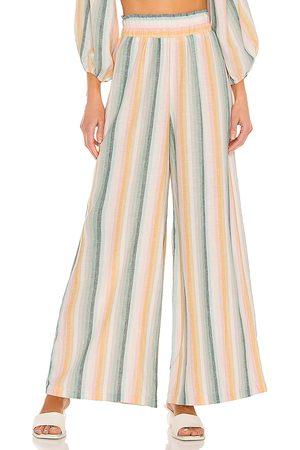 Show Me Your Mumu Pantalones julian en color ivory,green talla L en - Ivory,Green. Talla L (también en S, XS, M).