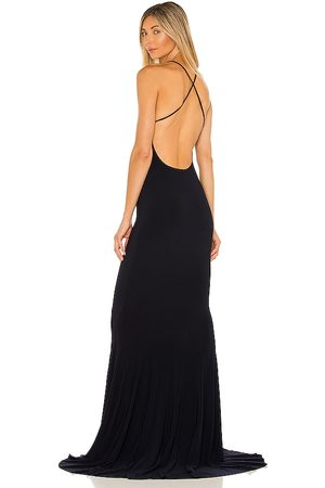 Norma Kamali Vestido largo en color talla L en - Navy. Talla L (también en XS, S, M).