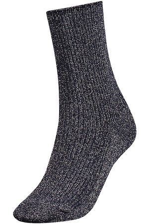Tommy Hilfiger Mujer Calcetines - Calcetines Glitter EU 39-42 Midnight Blue