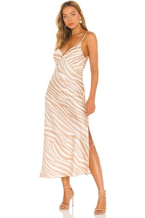 MISA Vestido raisa en color bronce talla L en - Tan. Talla L (también en M, S, XS).