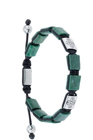 Nialaya Hombre Pulseras - Dorje Flatbead beaded bracelet