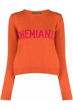 Alberta Ferretti Mujer Suéteres - Suéter tejido en intarsia