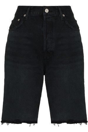 AGOLDE Mujer De mezclilla - Shorts de mezclilla por la rodilla