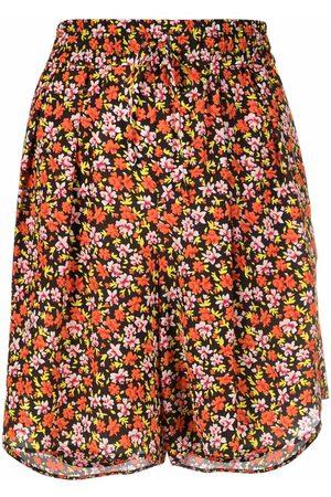 PAUL SMITH Mujer Estampados - Shorts de playa con cordón y motivo floral