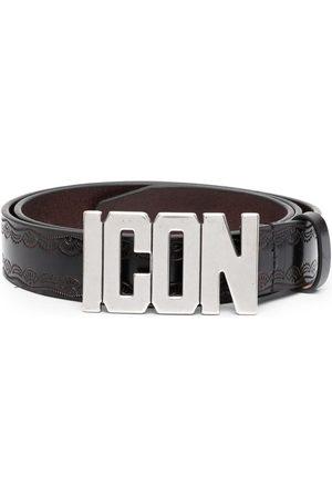 Dsquared2 Hombre Cinturones - Cinturón con placa del logo