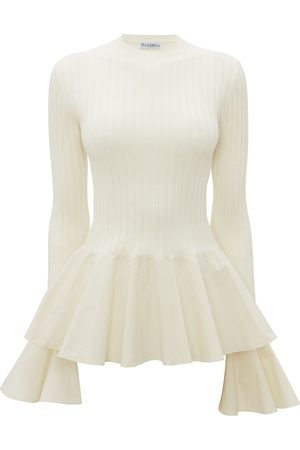 JW Anderson Mujer Tops - WOVEN CONTRAST UNDERPINNING