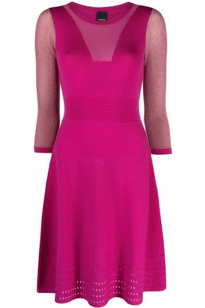 Pinko Vestido tejido con detalle perforado