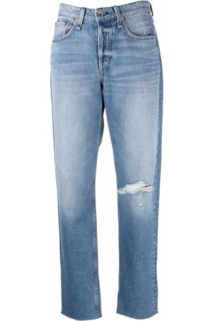 RAG&BONE Jeans rectos con rodillas rasgadas