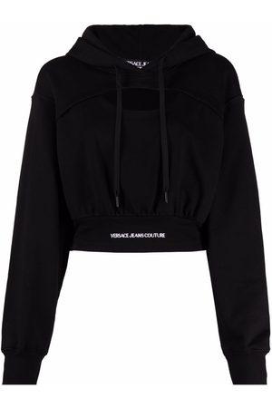 Versace Jeans Couture Hoodie con diseño corto