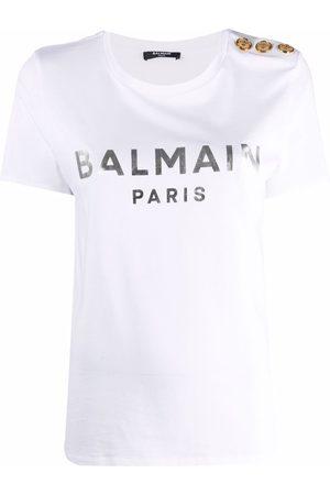 Balmain Playera con logo estampado