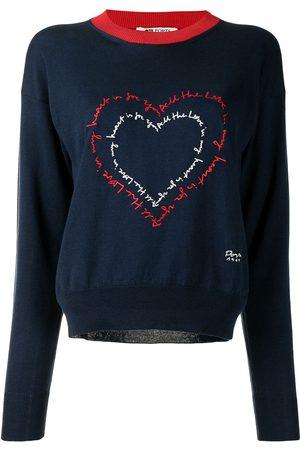 PORTS 1961 Suéter con bordado de corazones
