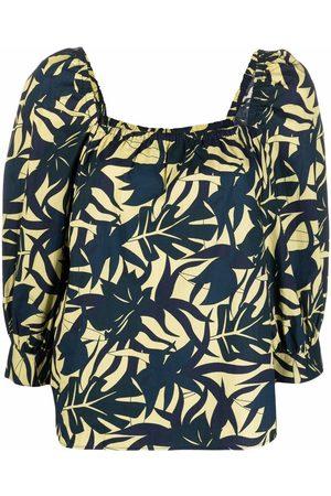 Bash Blusa con hojas estampadas